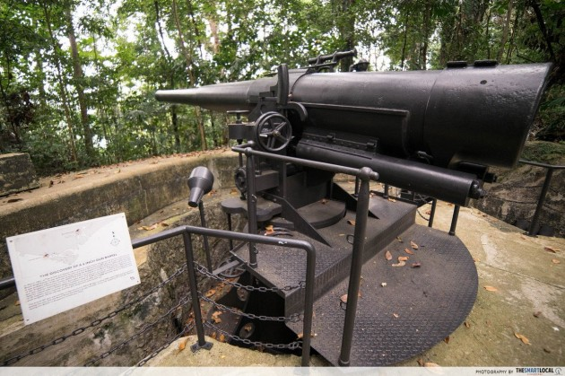 Fort Pasir Panjang, 6-inch guns, World War II Singapore, ammunition storage
