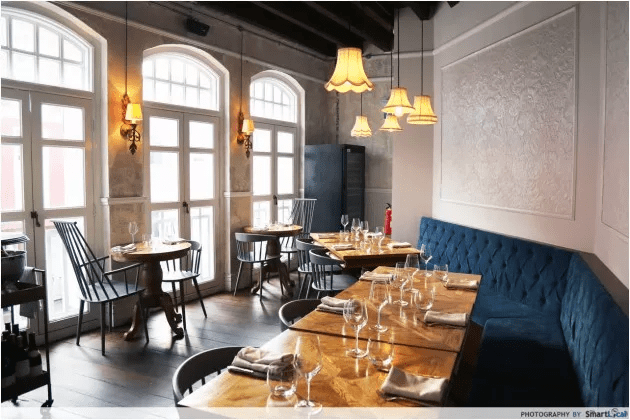 Romantic restaurants Singapore Oxwell and Co