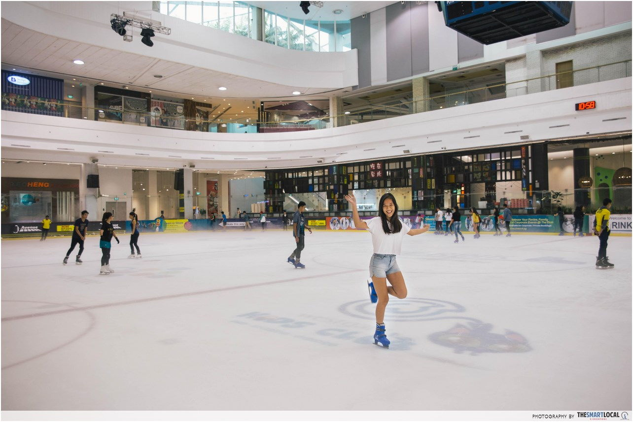 Ice-skate at The Rink at JCube for free, birthday month
