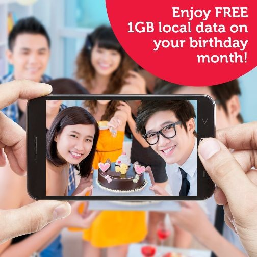 Singtel free 1GB data, birthday deal