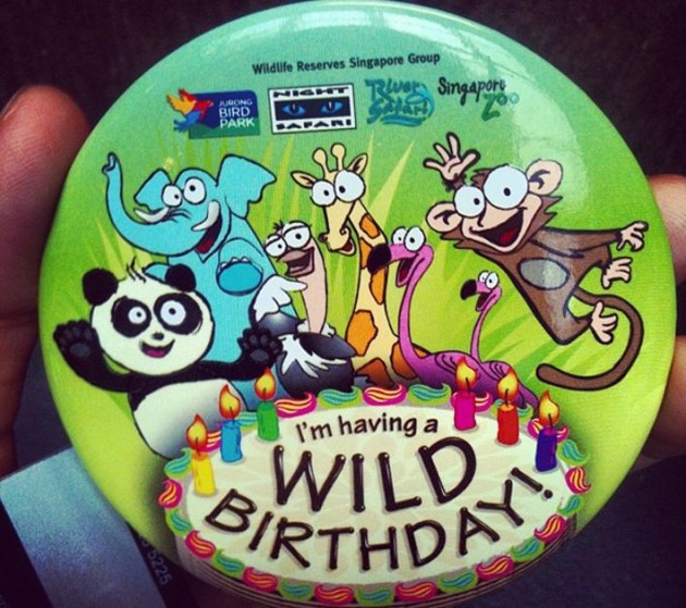 free entry to Singapore Zoo, birthday month, free badge