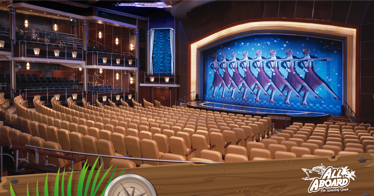 Catch a nightly show in the Royal Mariner of the Seas' theatre.