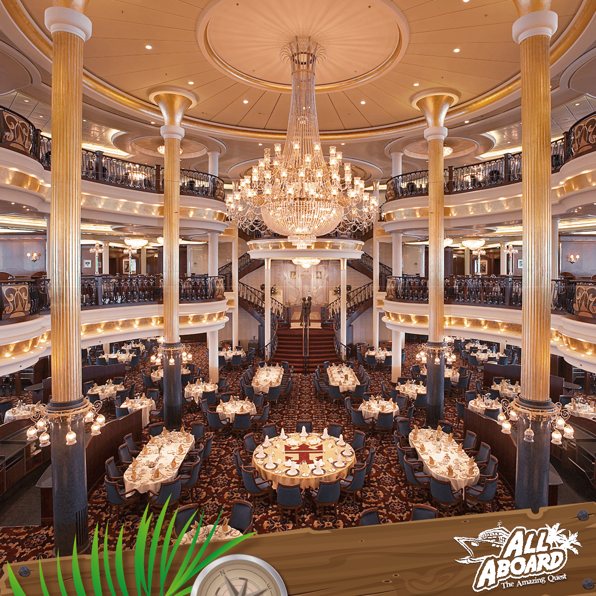 Dine in the Royal Mariner of the Seas' grand dining zone for a dining experience fit for royalty!