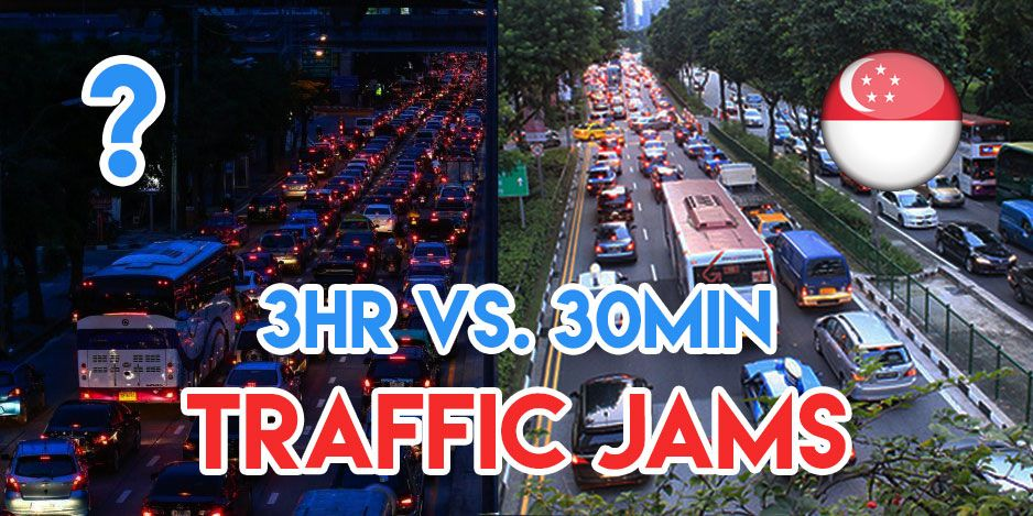 traffic jams in Singapore