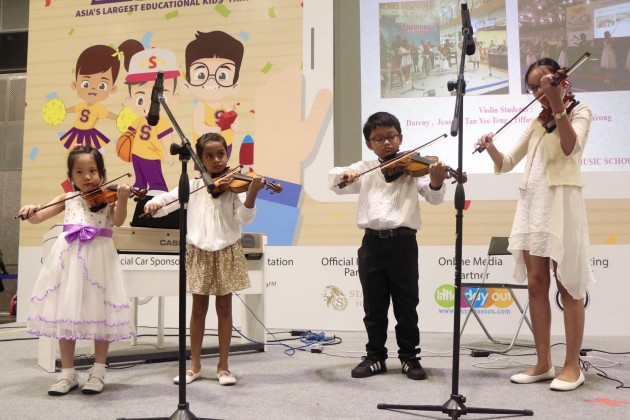 smartkids asia talent time performance violin instrument music singing competition