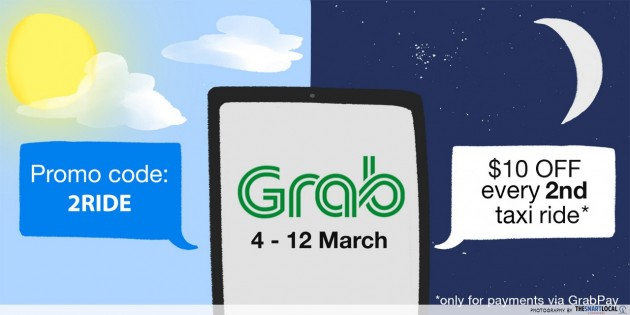 Grab's New Promocode Gives Compulsive Cabbers $10 Off 2nd