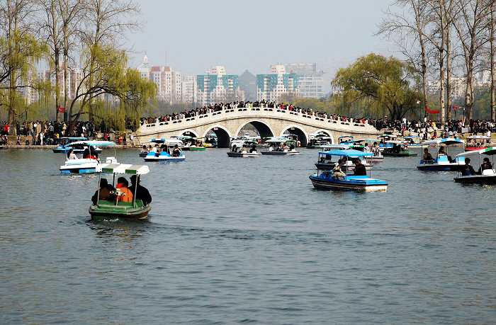 Boating at Yuyuantan Park, Beijing