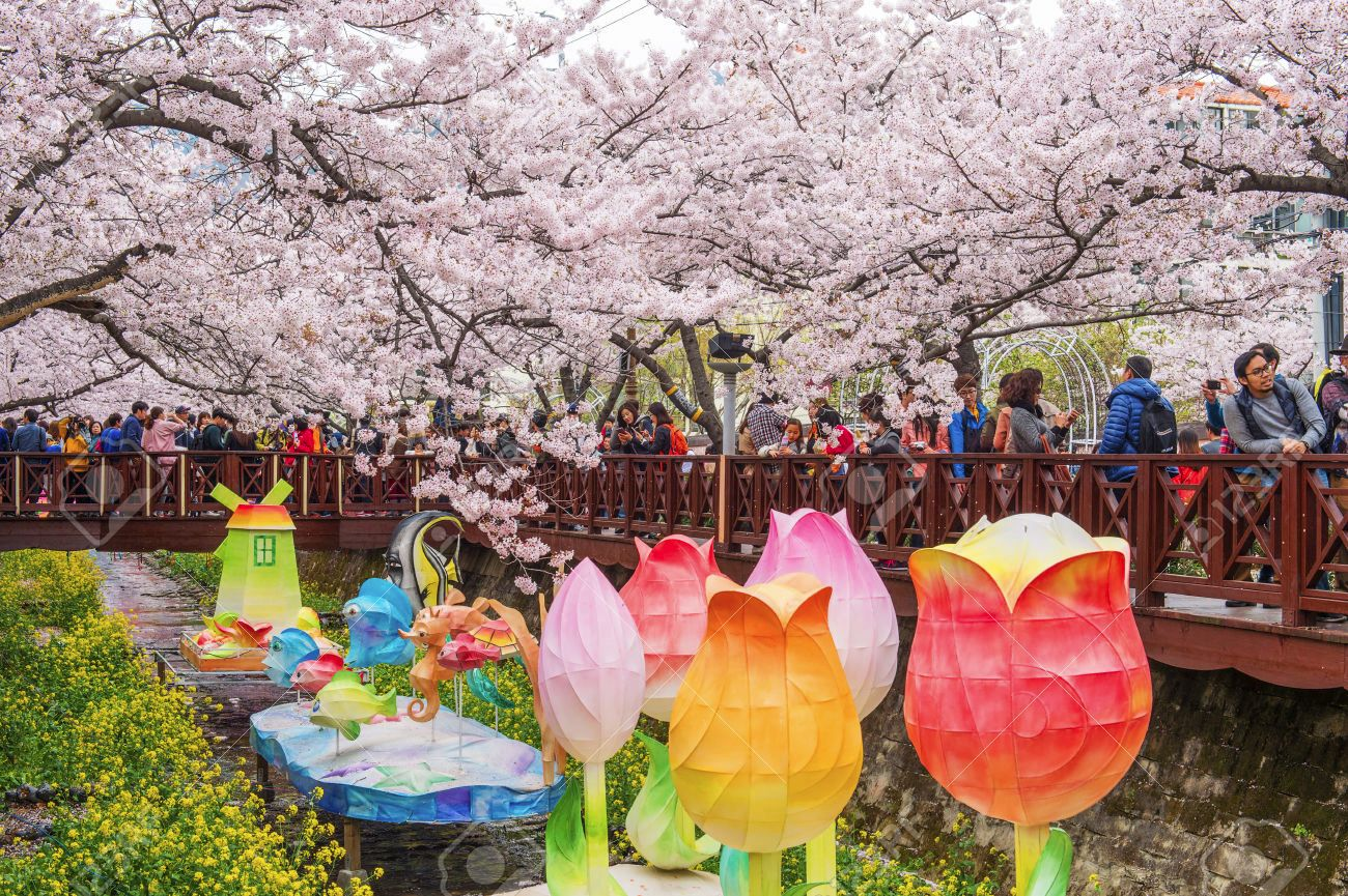Art Floats at Jinhae Gunhangje Festival, South Korea
