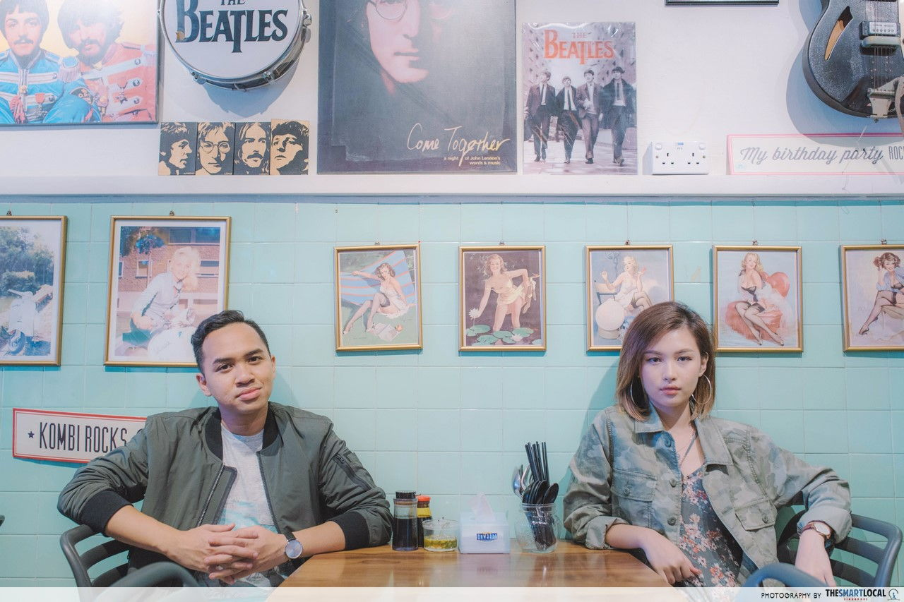 TSL X AEO Green Retro Look at Kombi Rocks Diner.