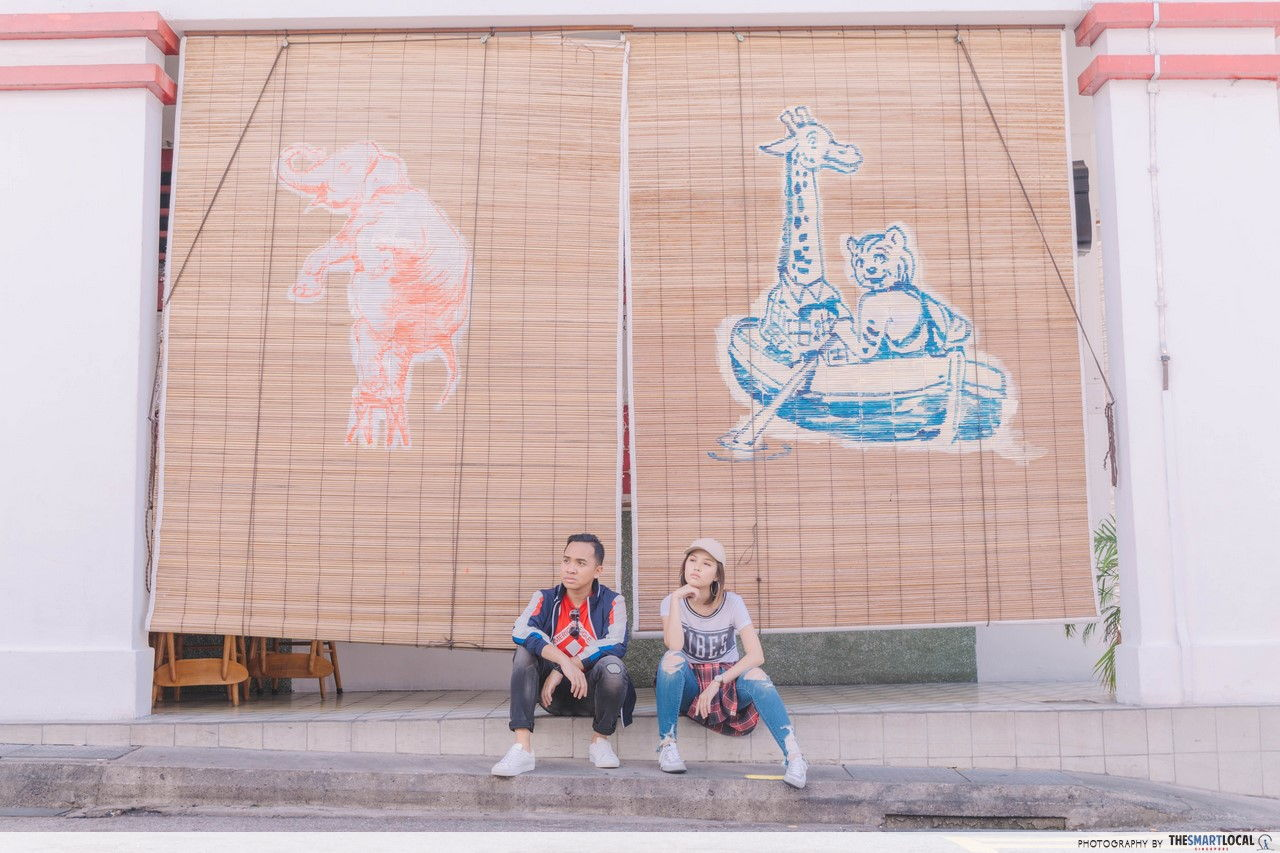 TSL X AEO animal murals on the side of Potato Head Building.