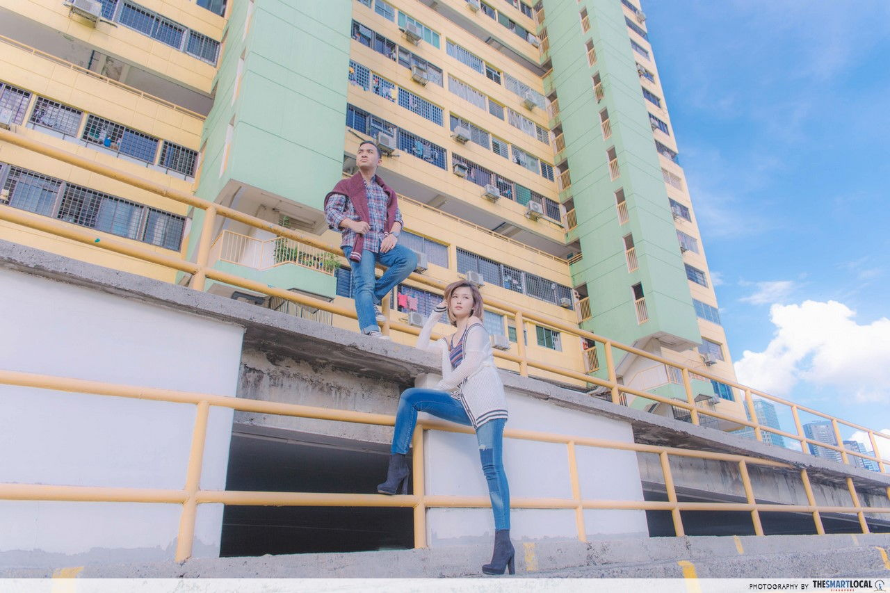 AEO Retro Grunge Look at People's Park Complex Rooftop