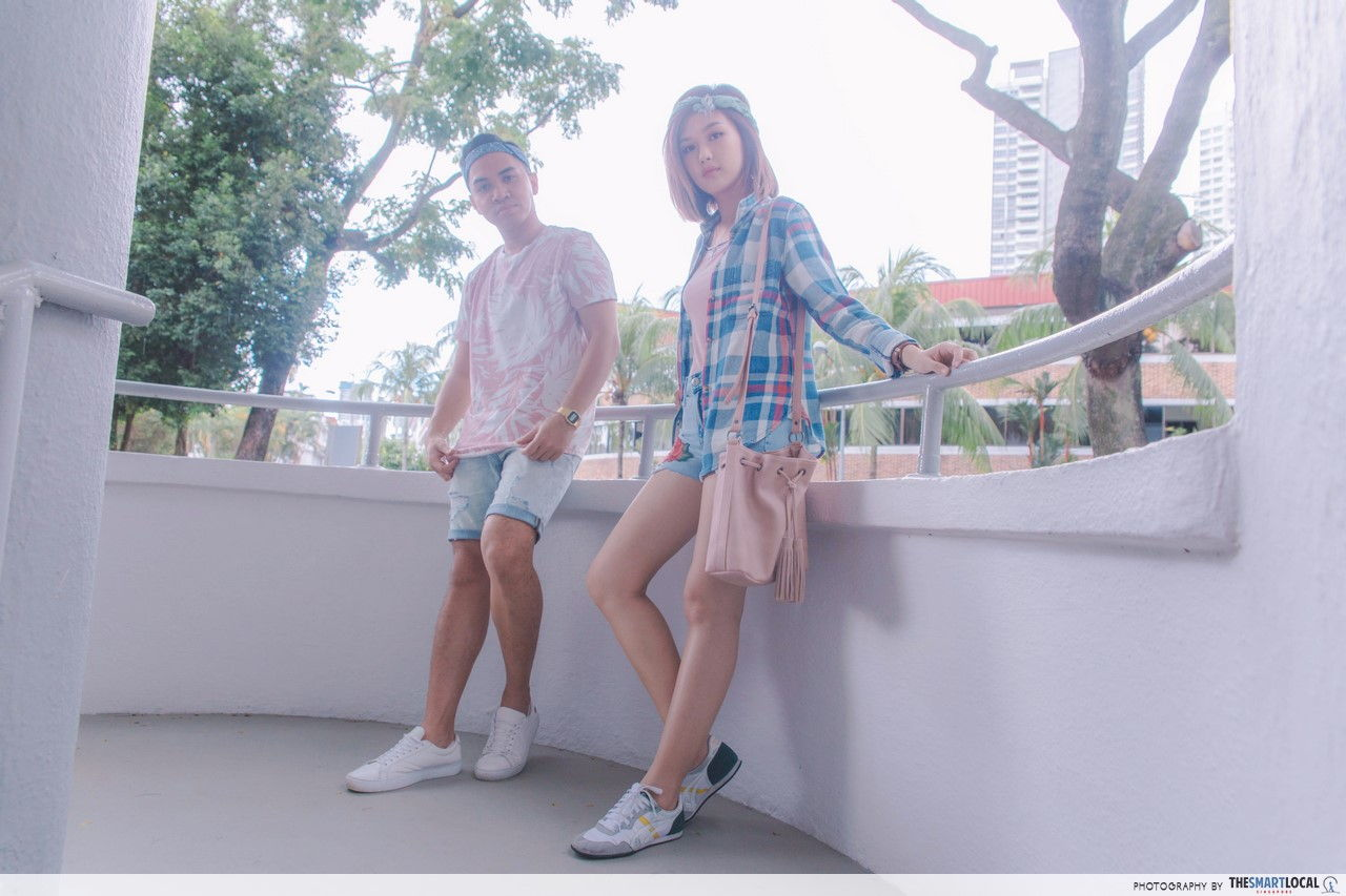 TSL X AEO close up shot at Moh Guan Terrace round balconies