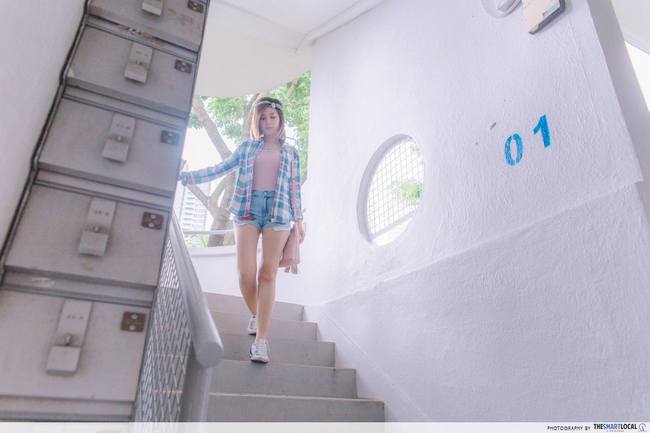 Old letter boxes at Tiong Bahru Moh Guan Terrace.
