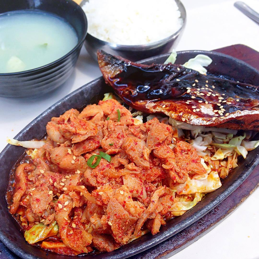 Spicy Pork Bulgogi in Kim Dae Mun at Concorde Shopping Mall.