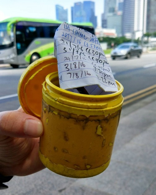 Find caches around Singapore and log your find