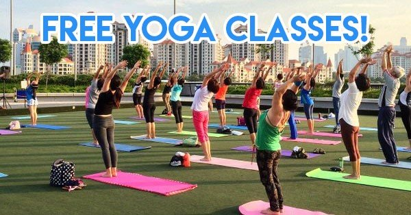 Free yoga classes all around Singapore