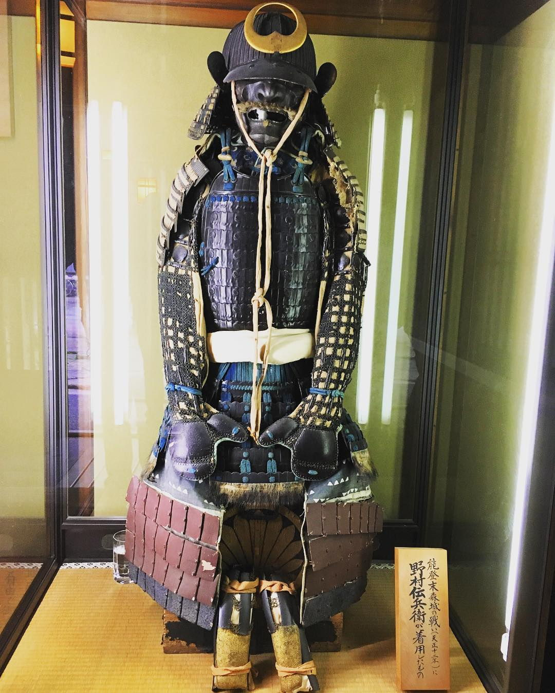 Samurai sculpture in Nomura Family Samurai Home.