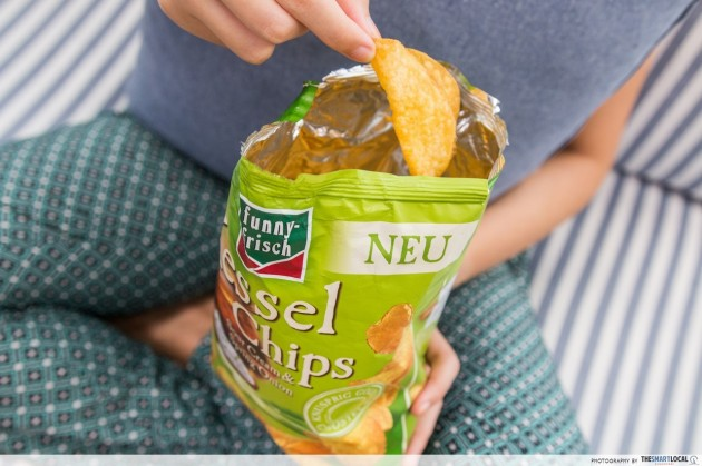 Funny Frisch Kessel Chips - Sour Cream & Spring Onion 120g ($3.95)