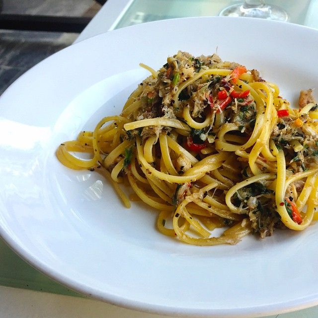 Crabmeat Aglio Olio at Canopy Garden Dining.