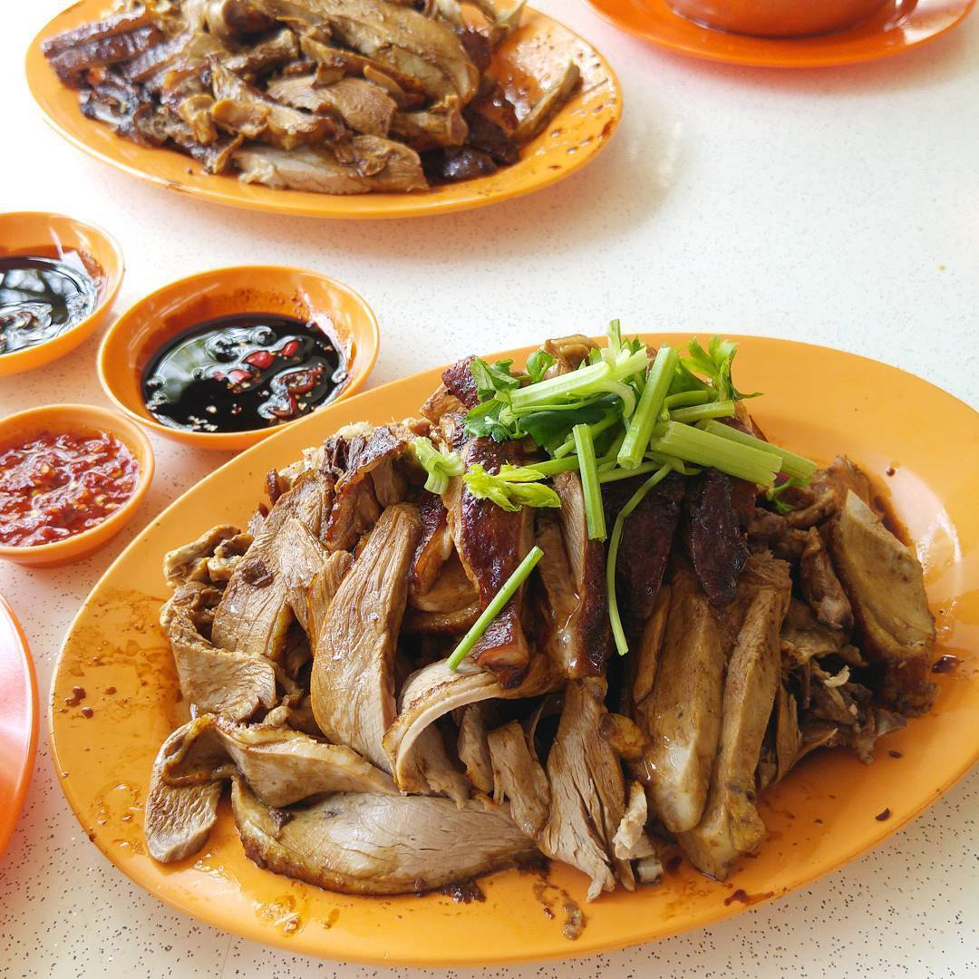 Juicy duck slices at Hup Seng Duck Rice.