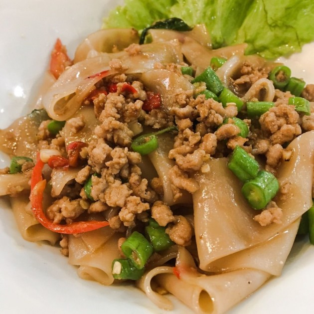 Kra Pow Thai Street Food Basil Pork Noodles