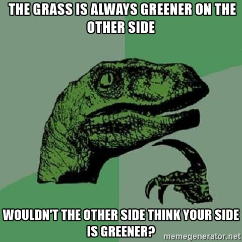 grass is greener meme
