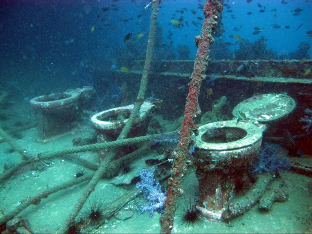 king cruiser phuket toilet underwater shipwreck diving