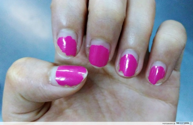 Gel manicure chipping off