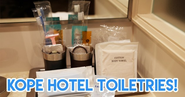 Kope hotel toiletries when you're on a trip