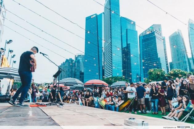 Singaporean and Thai musicians performing