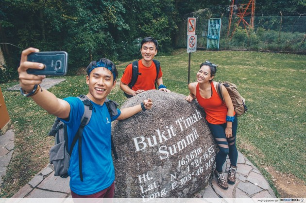 bukit timah hill rock hiking trail summit