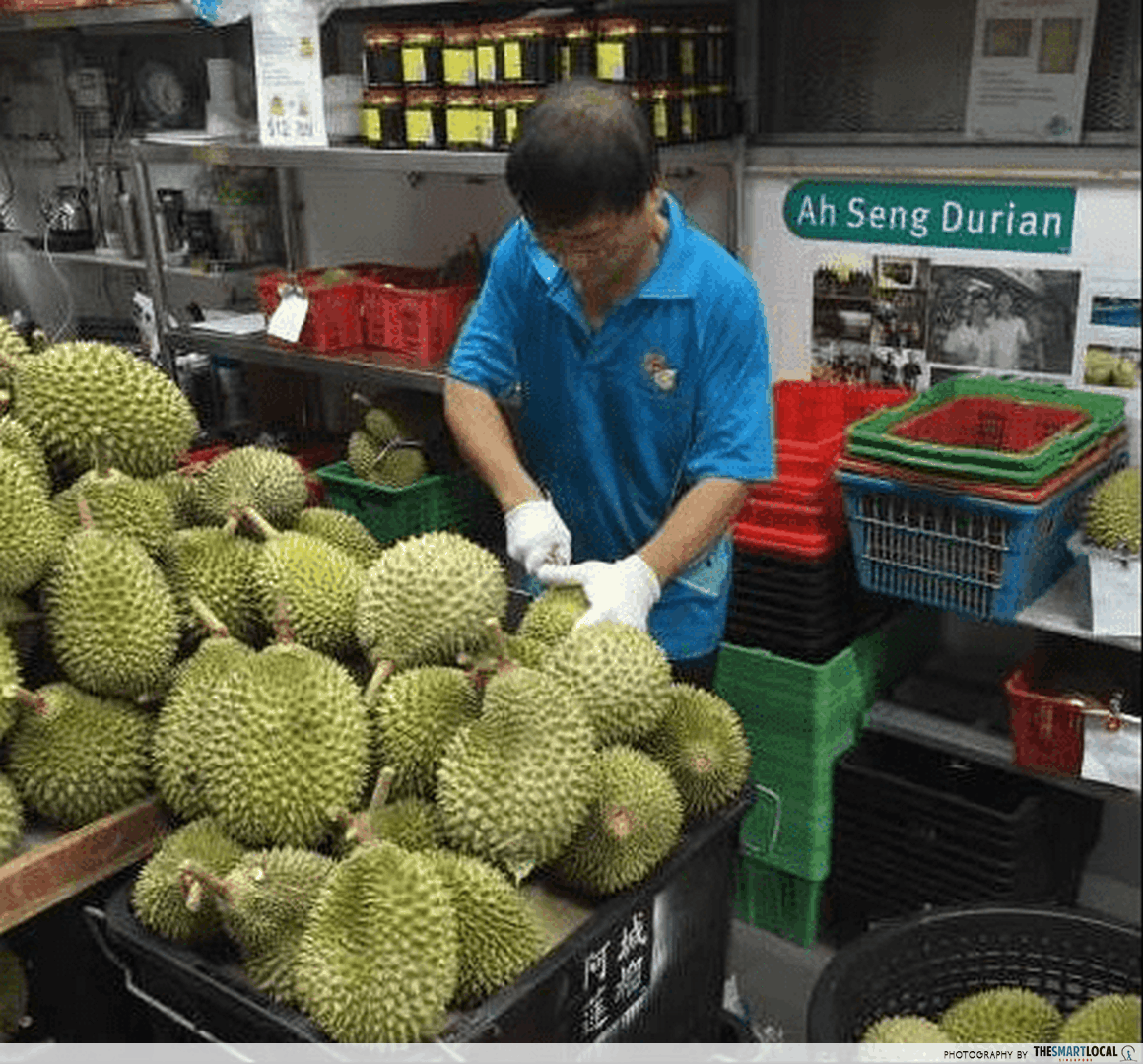 ah seng cutting durian