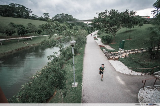 punggol waterway waterside running trail