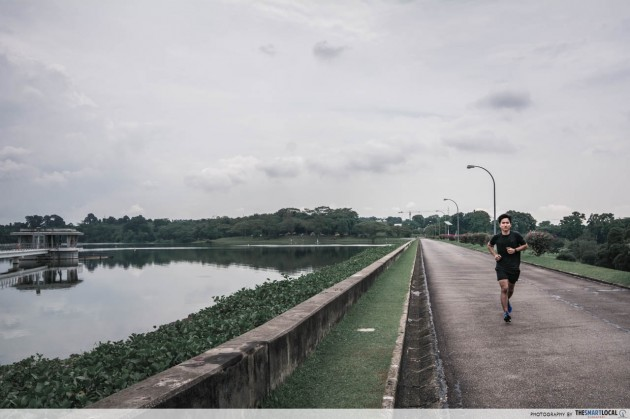 upper seletar reservoir park running waterside routes