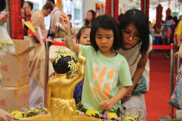 amithaba buddhist centre bathing buddha vesak day