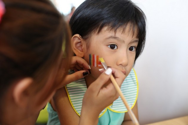 bright hill temple vesak day celebration face painting