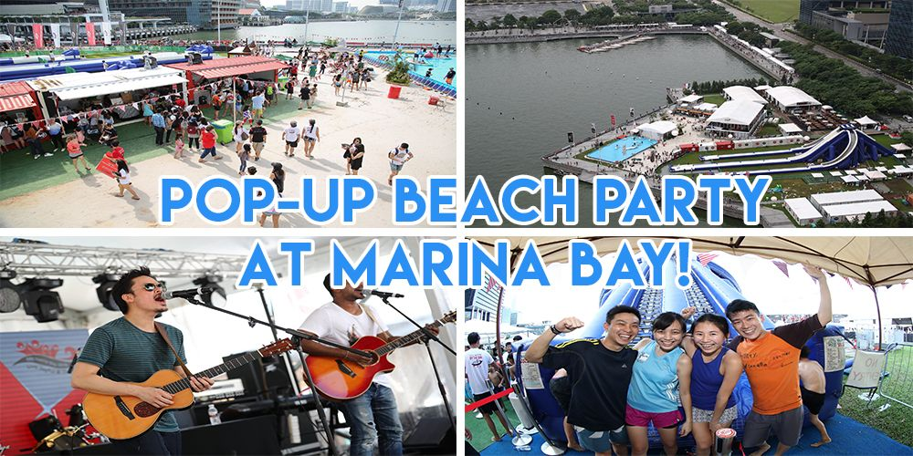 Marina Bay's Pop-Up Beach Is Back With Pre-ULTRA Parties And An Inflatable Obstacle Course