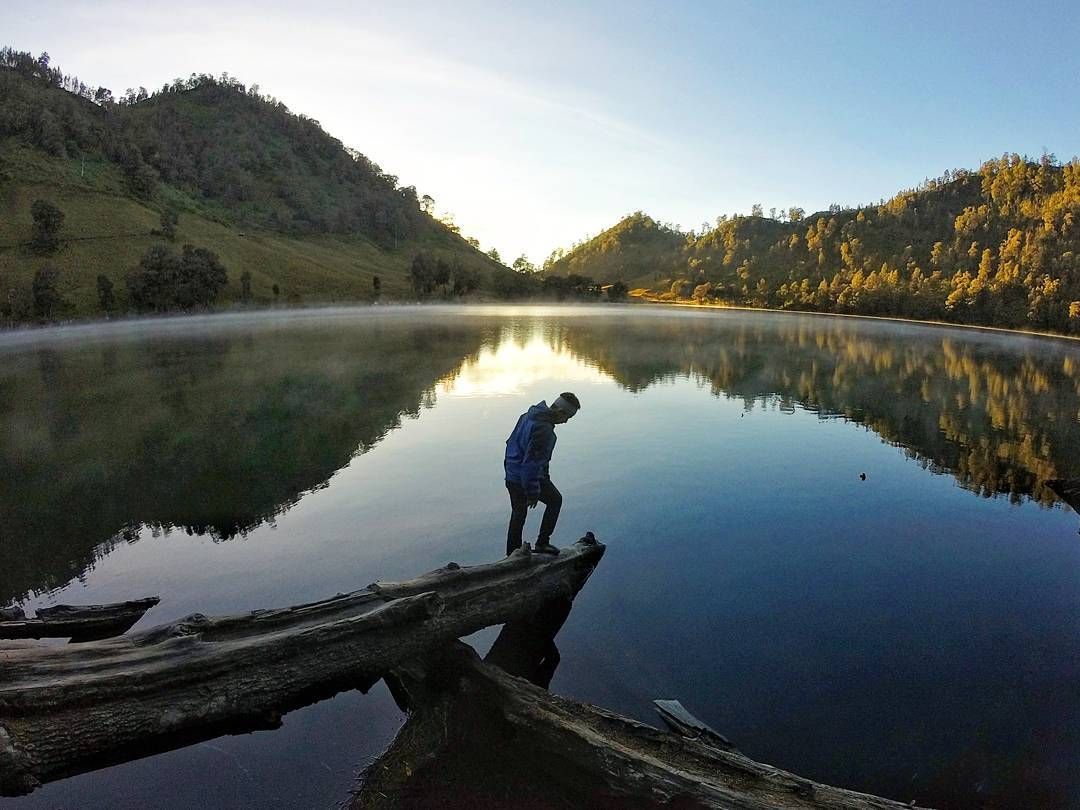 Ranu Kumbolo Lake in East Java, Indonesia