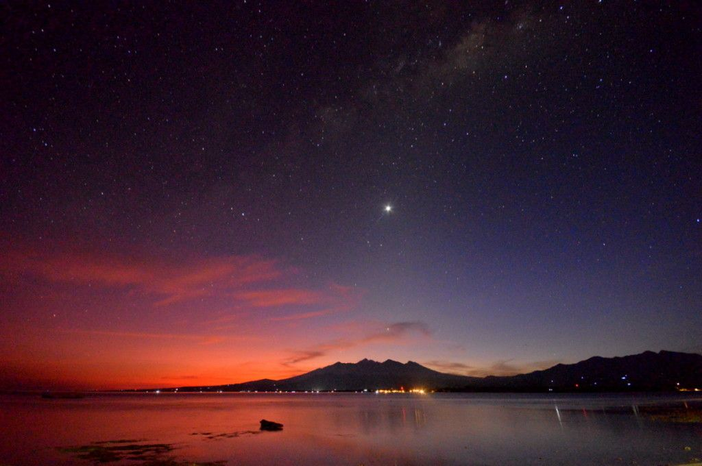 Stargazing on Lombok Beach