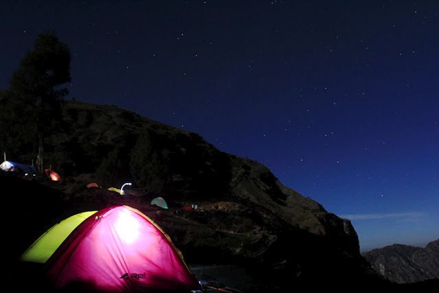 Camping on mount rinjani, Indonesia