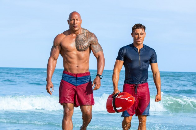 Baywatch Beach Body Bod Hacks Abs Muscles Dwayne Johnson The Rock Zac Efron