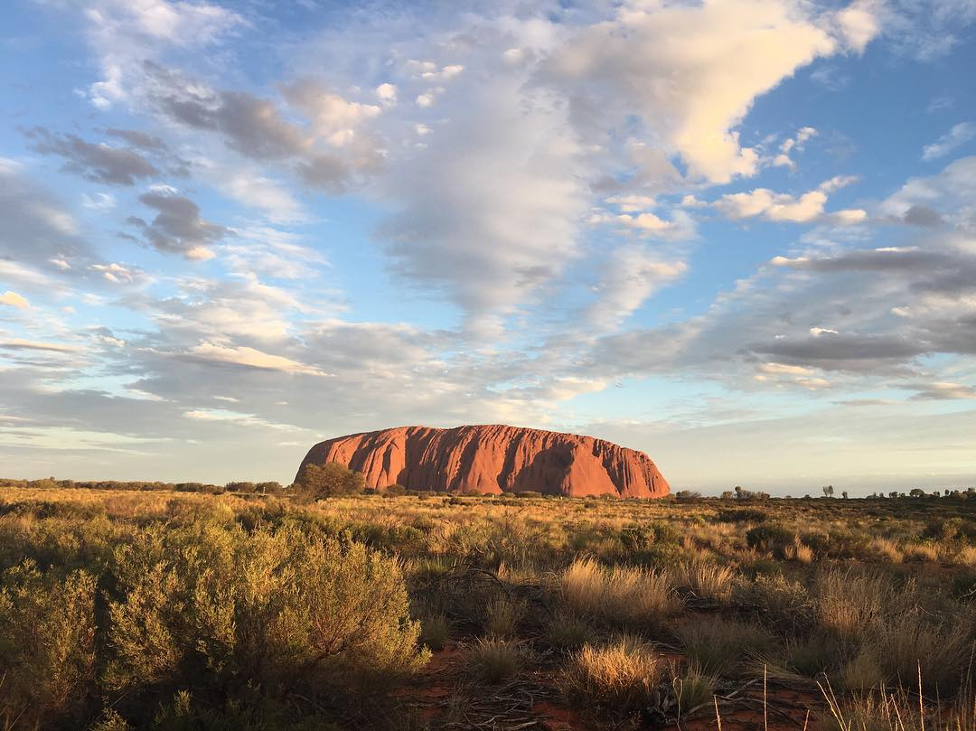 ayers rock best visited during sunrise