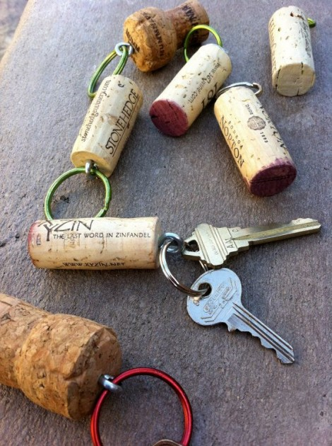 Keep your keys afloat by attaching them to a cork