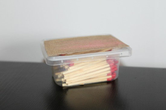 Put your matches in a tupperware box for extra protection