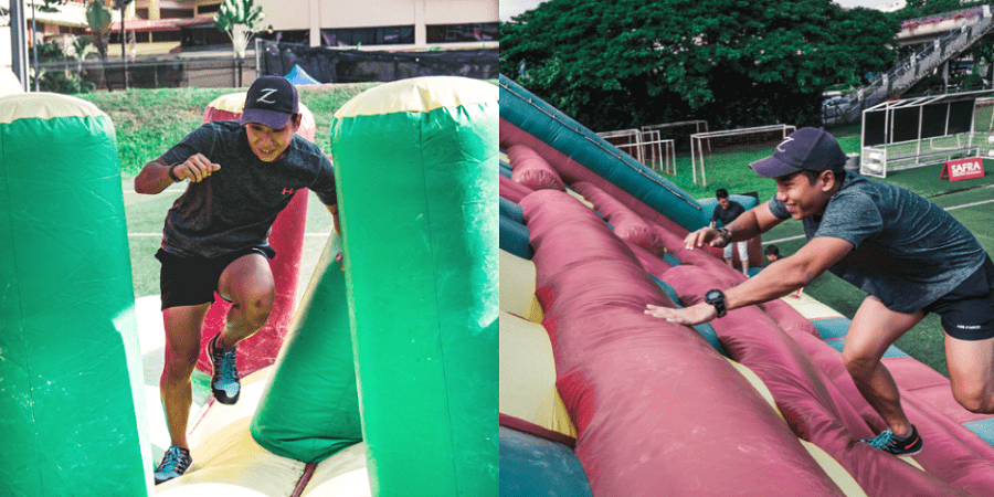 SAFRA Tampines Open House Has An FOC Inflatable Obstacle Course And 5m Free Fall