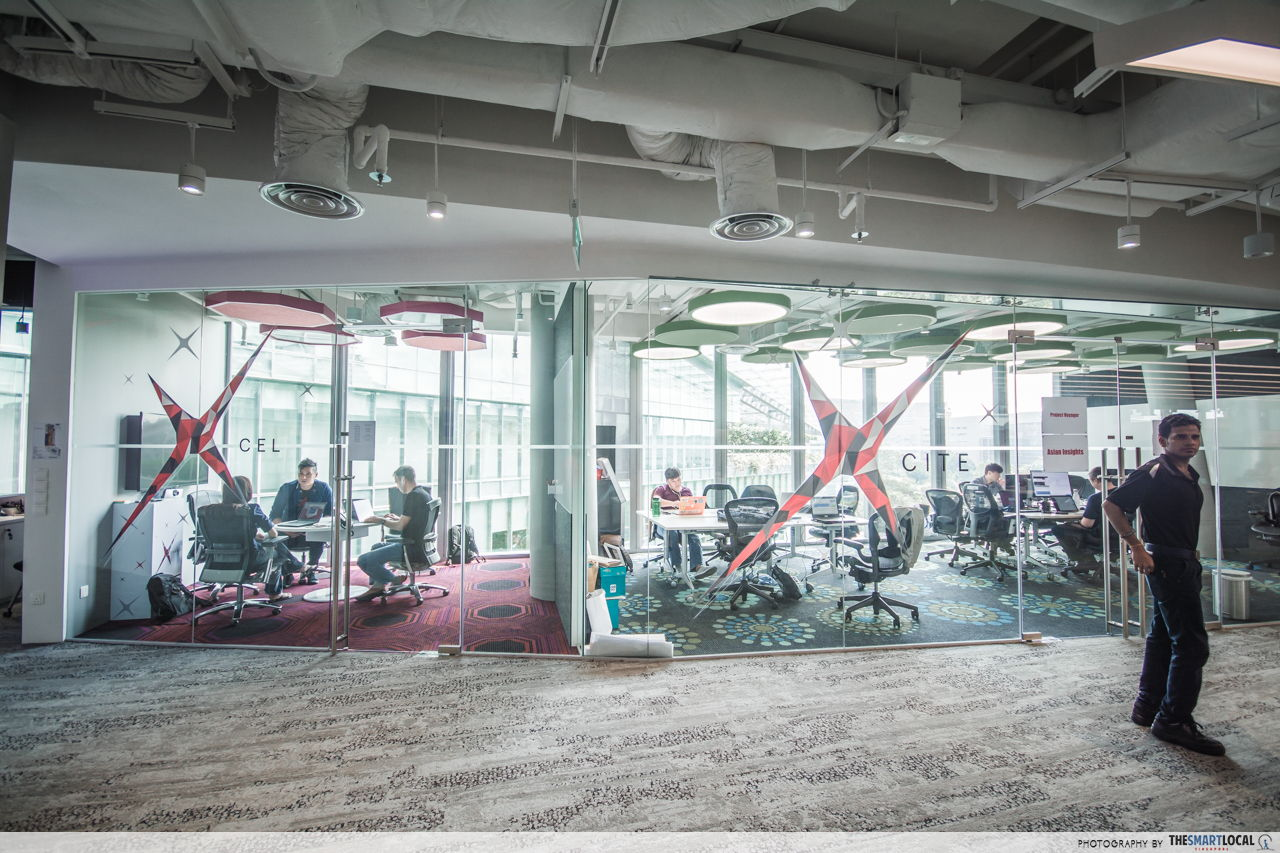 Open spaces and natural lighting at DBS DAX office