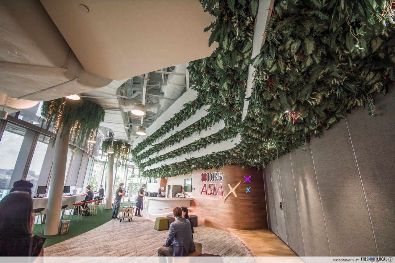 Vertical gardens and other stunning decor in DBS DAX office