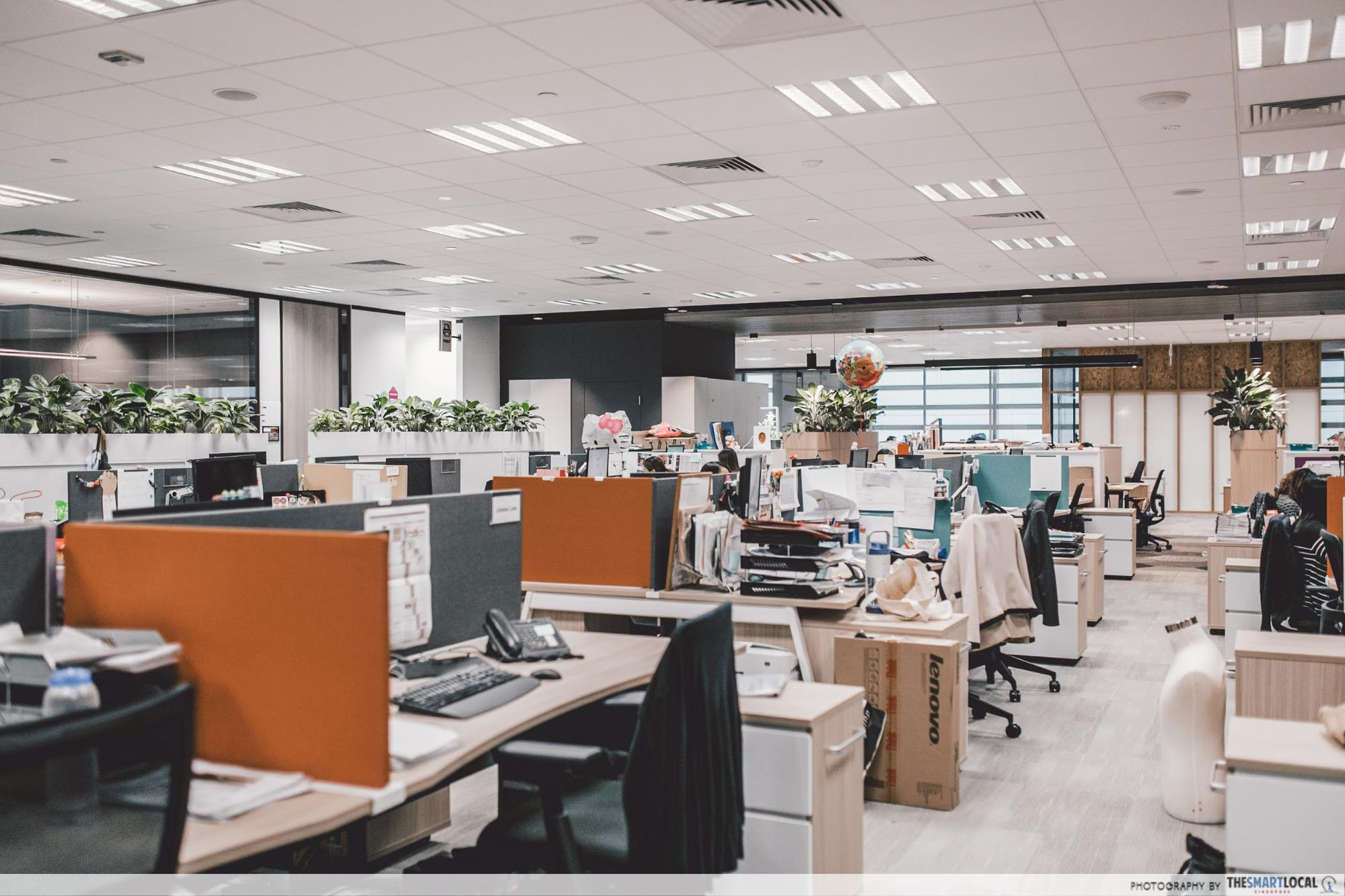 Work spaces in Changi Airport Group's office