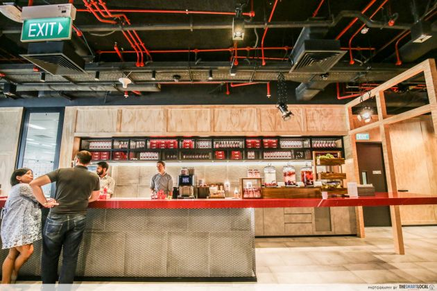 The YouTube area in Google office has its very own micro-kitchen