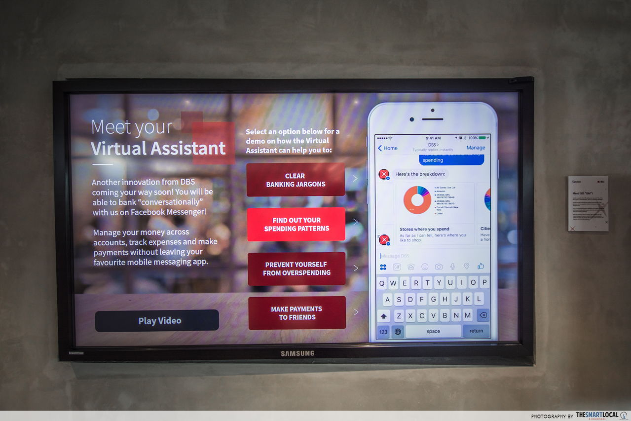 DBS DAX inventions include this virtual assistant mobile banking chat bot!